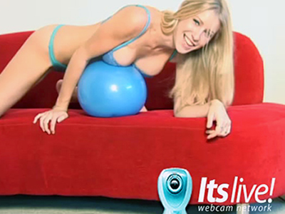 Beautiful blonde Allie loves to masturbate in front of the webcam